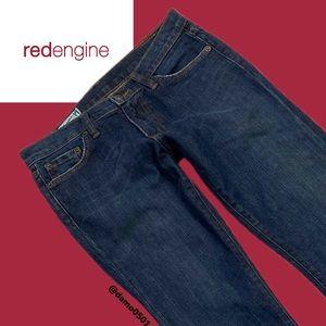 Red Engine Scarlett Flare Medium Dark Wash Jeans